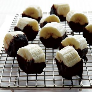 chocolate dipped banana